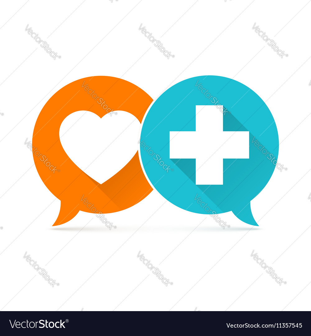 Medical background Blue and green crosses