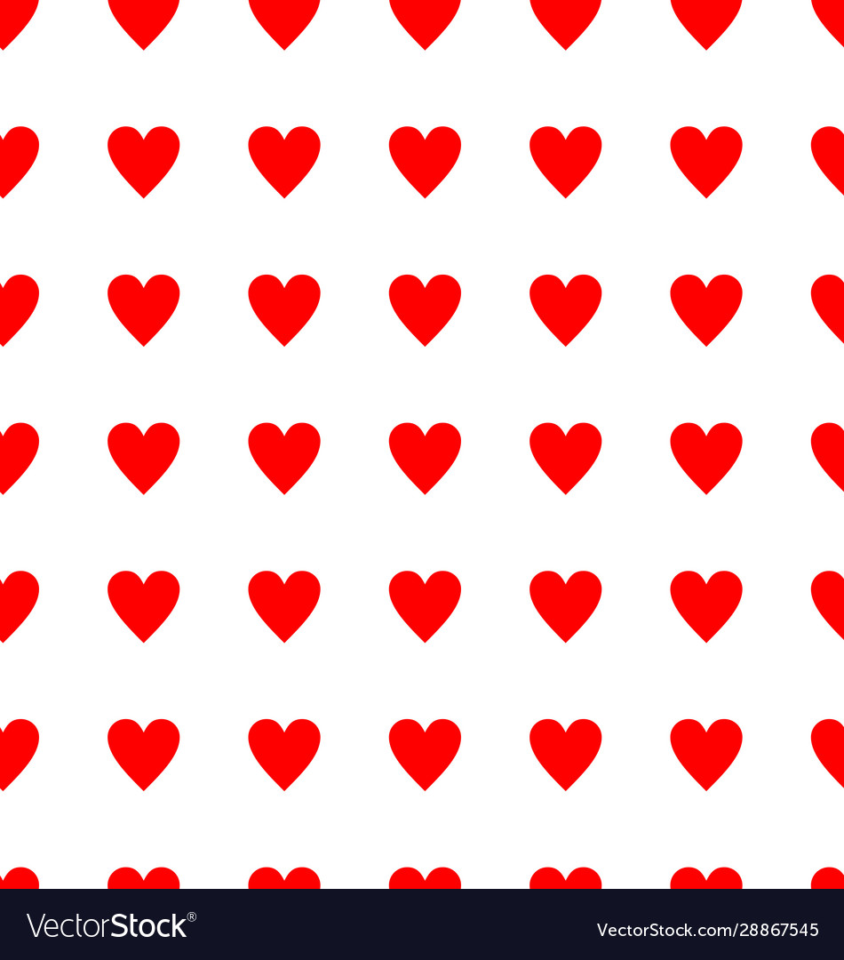 Seamless red heart pattern background 01