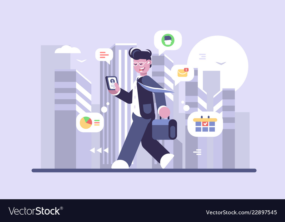 Young man working on run flat poster
