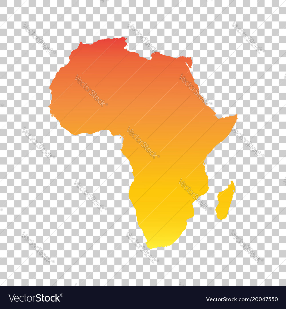 Colorful Map Of Africa.Africa Map Colorful Orange