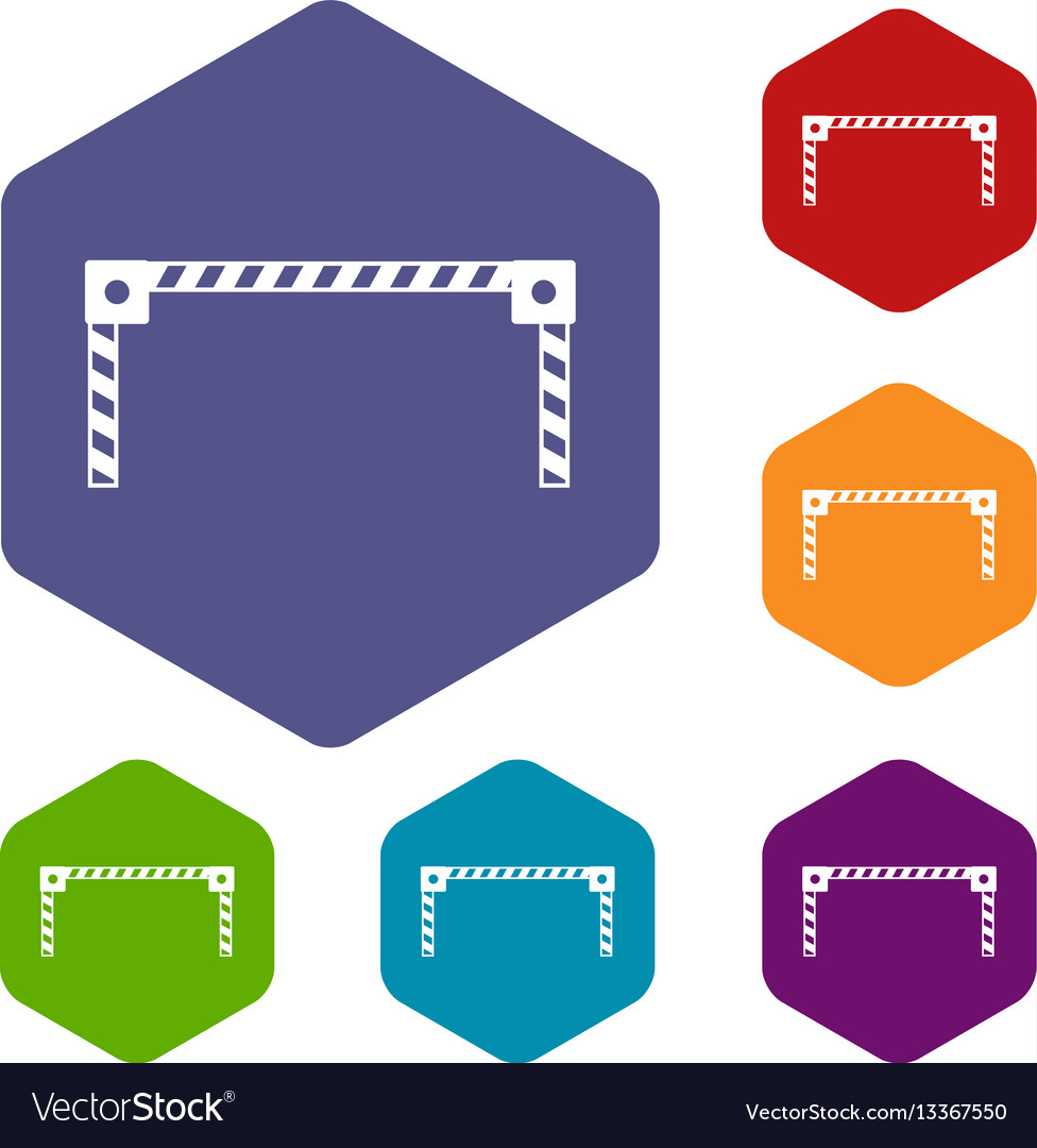 Barrier icons set