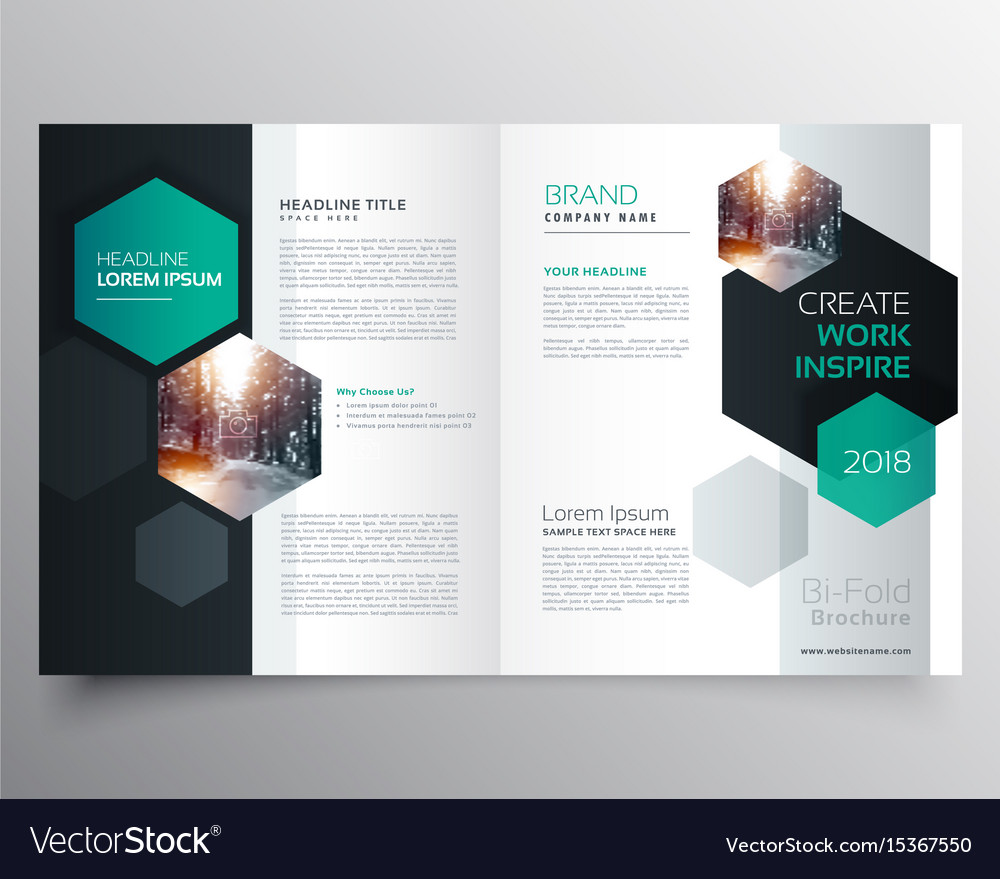 Bifold Business Brochure Or Magazine Cover Page