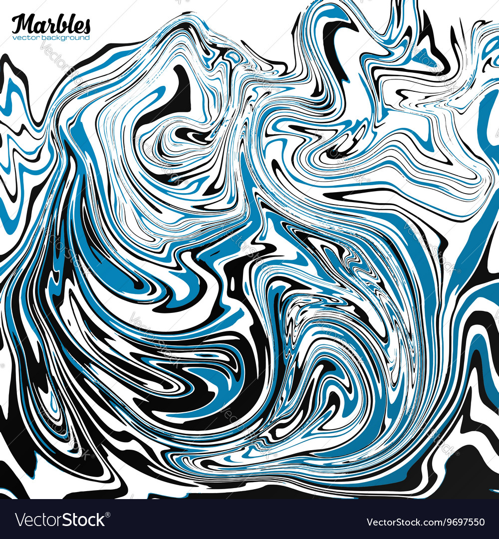 Black Blue And White Marble Style Abstract Vector Image