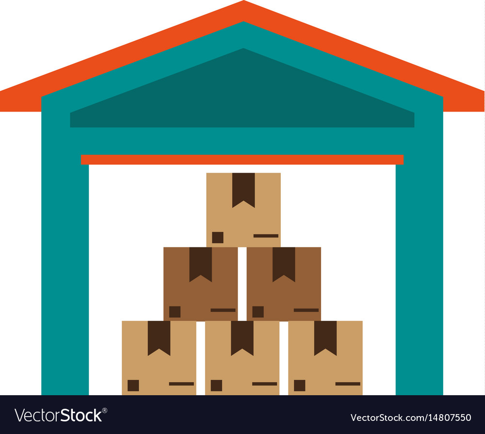 Box in storage icon image
