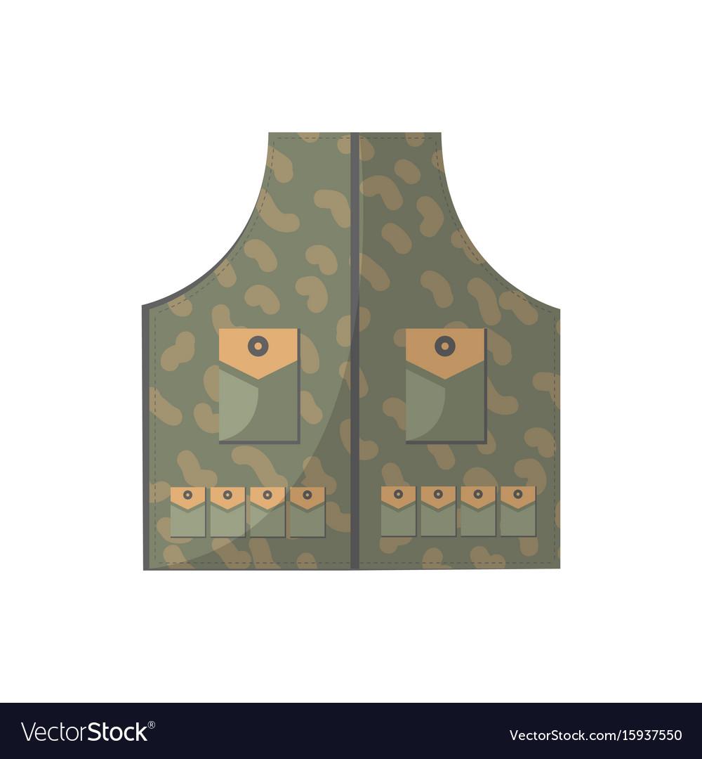 Camouflage vest isolated icon