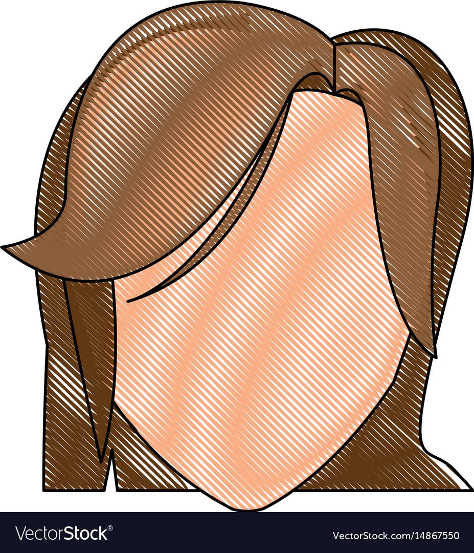 Drawing head female hairstyle modern
