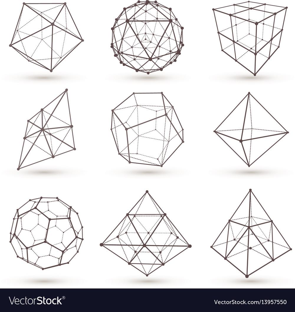 Geometric 3d objects