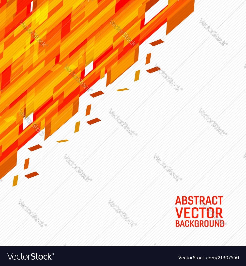 Orange geometric abstract background new