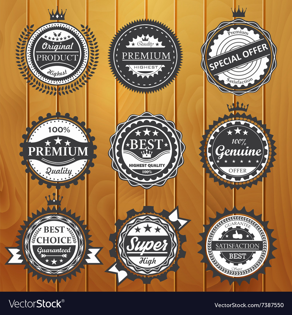 Premium quality guarantee genuine badges