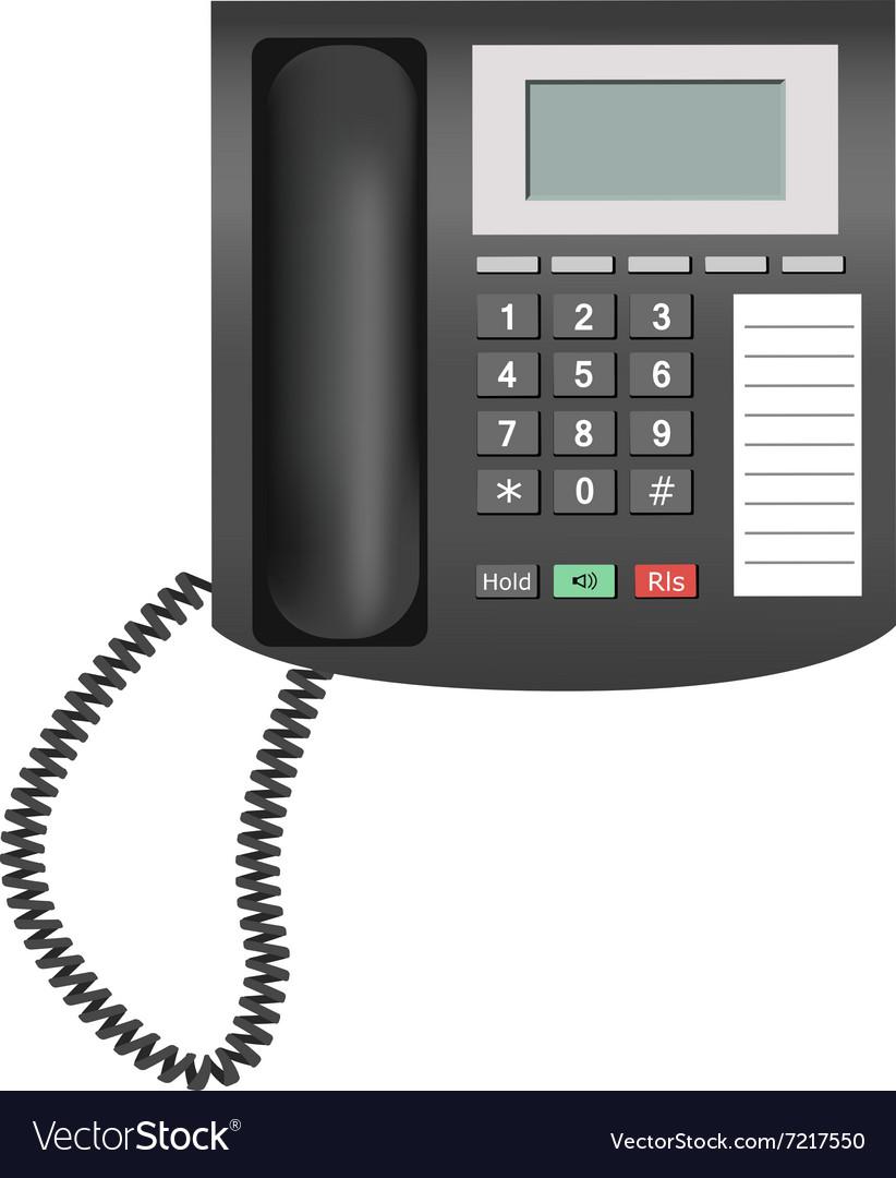 Telephone isolated on white background vector image