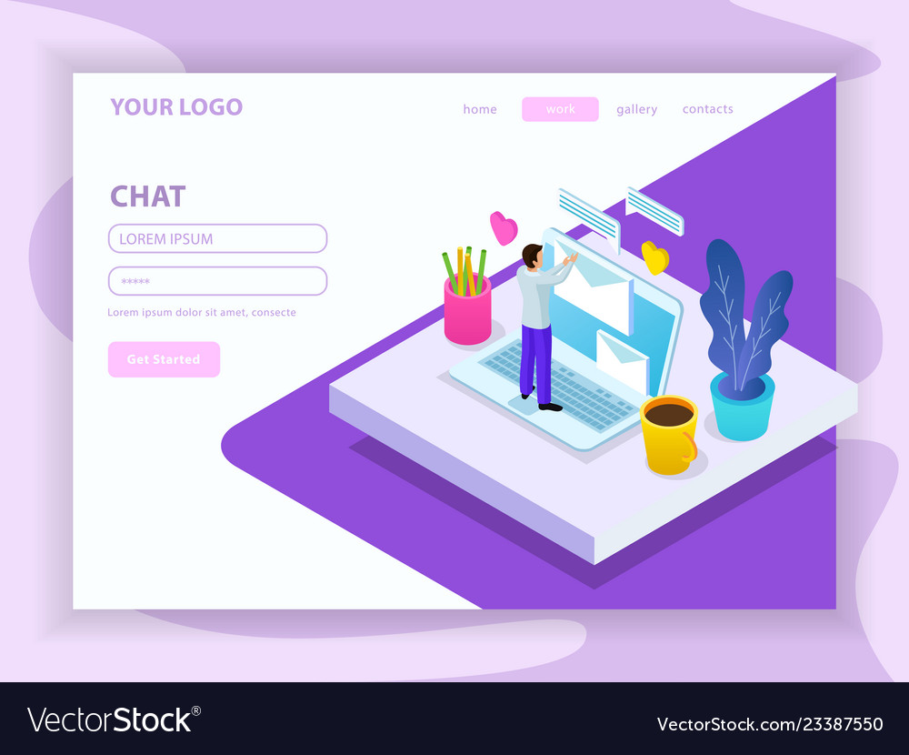 Virtual communication isometric composition