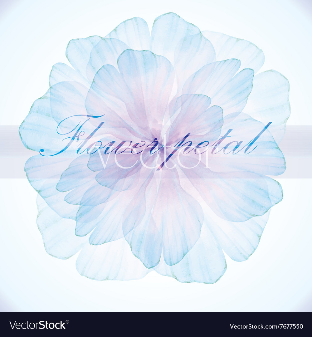Watercolor floral vintage card