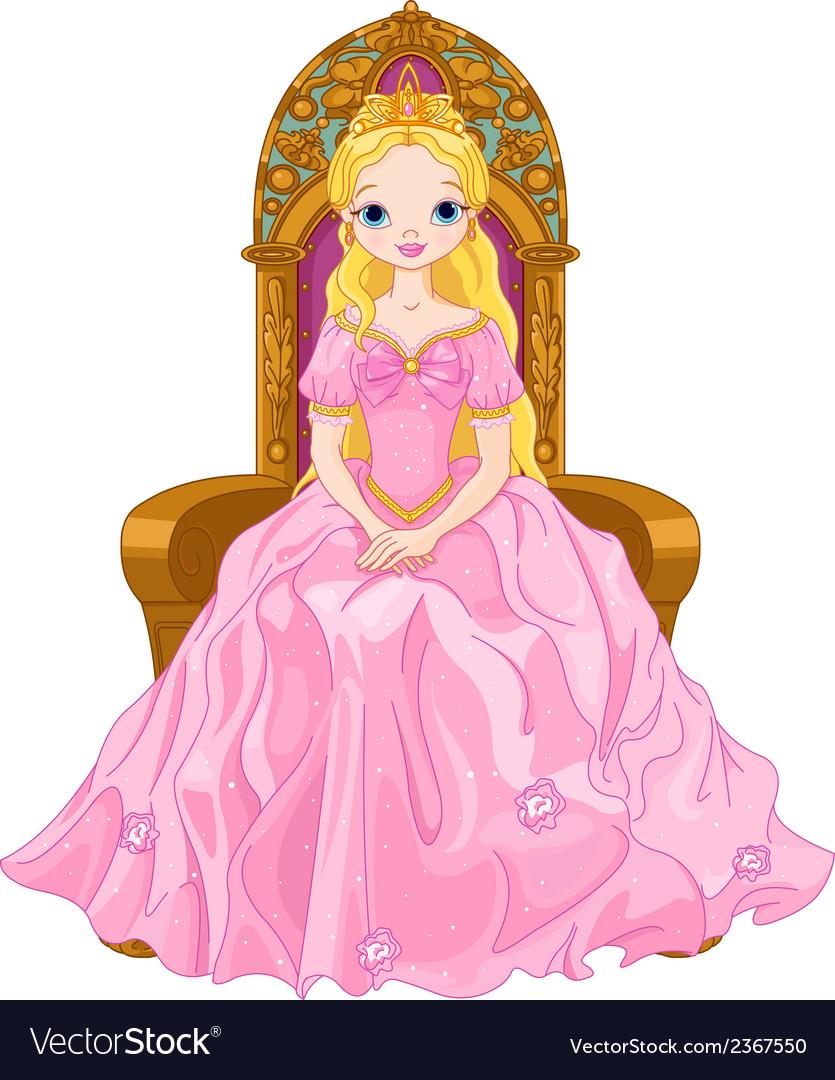 Young queen vector image