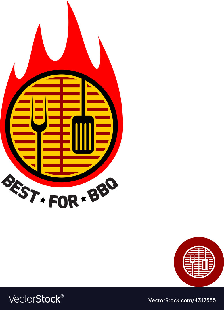 Barbeque sign vector image