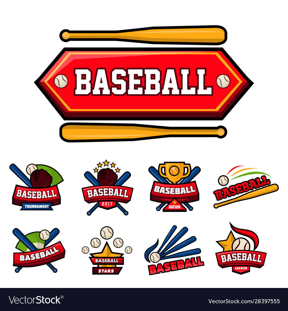 Baseball game isolated icons sporting equipment