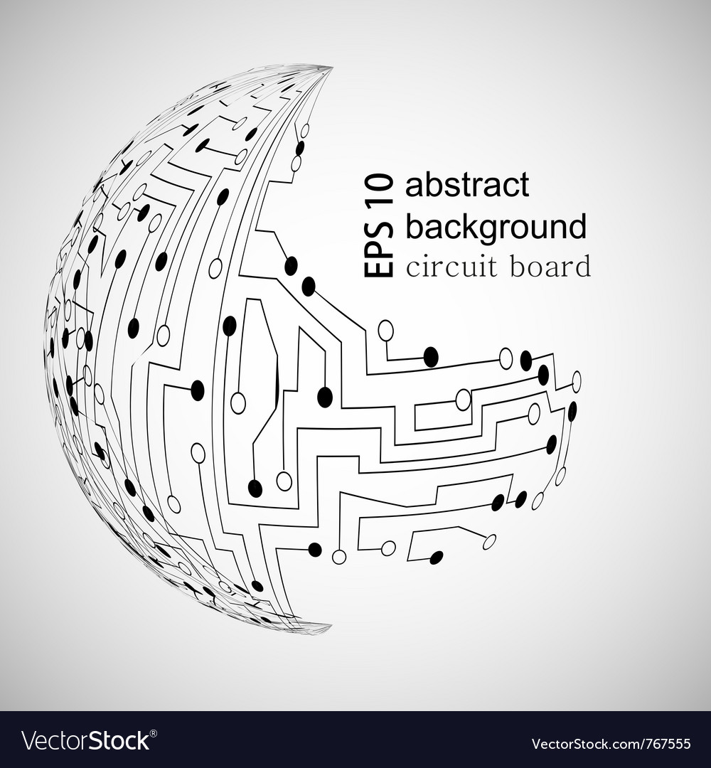 Circuit board world vector image