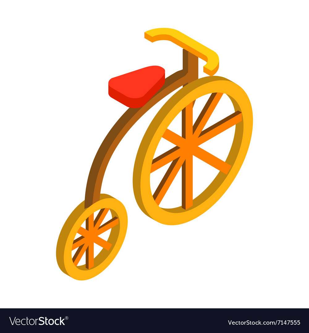 Circus bike isometric 3d icon