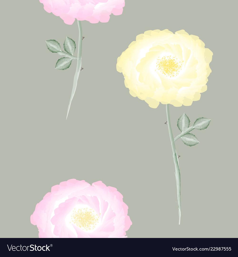 Elegant vintage seamless floral pattern with