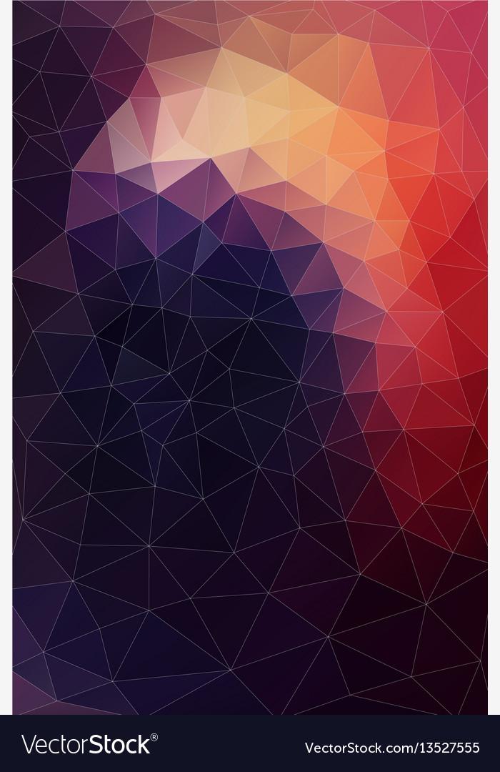 Flat background of geometric shapes retro vector image