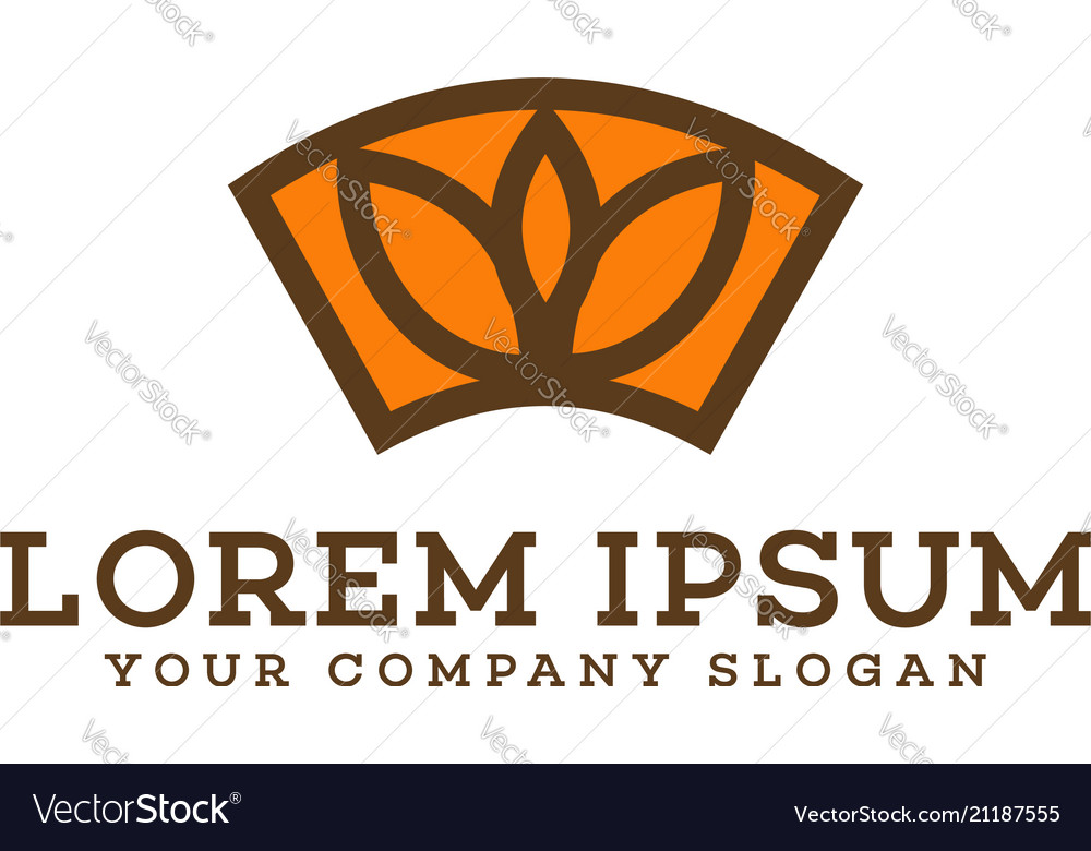 Flower decoration logo design concept template