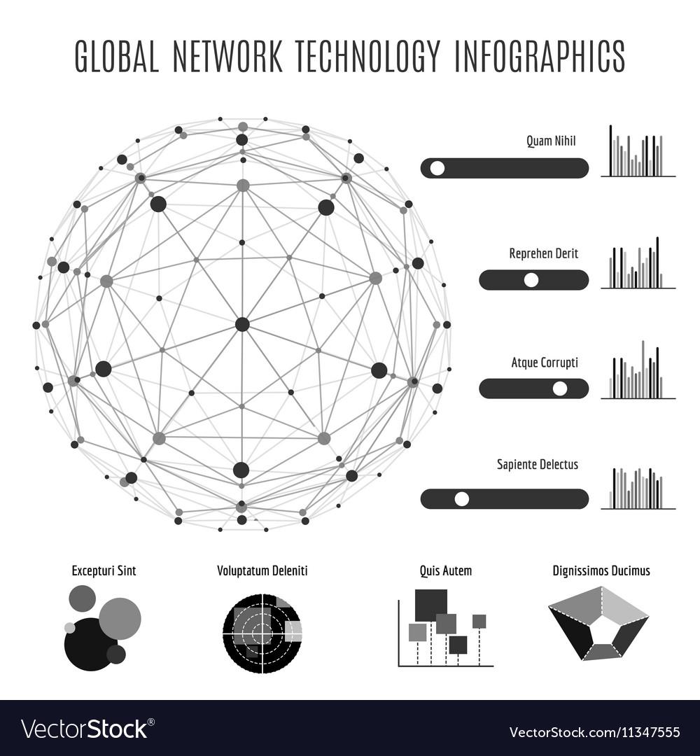Global network technology infographics