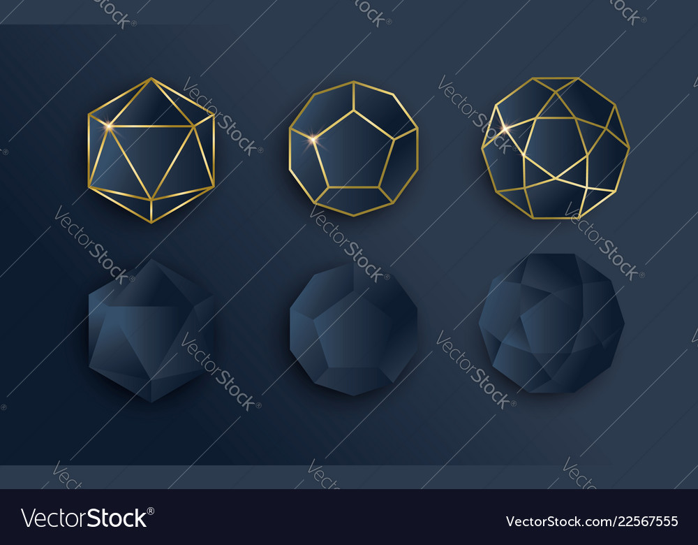Gold and blue luxury paper template set