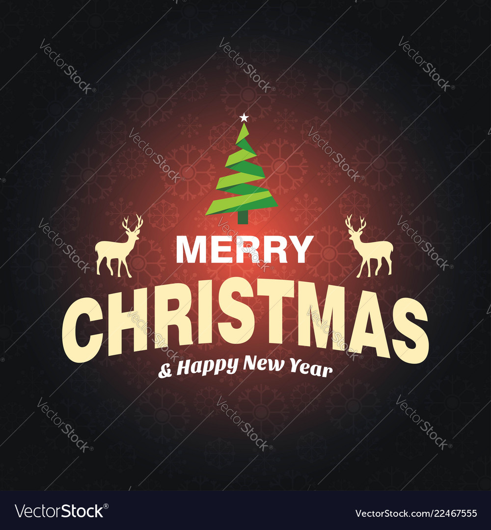 Merry christmas greetings design with dark