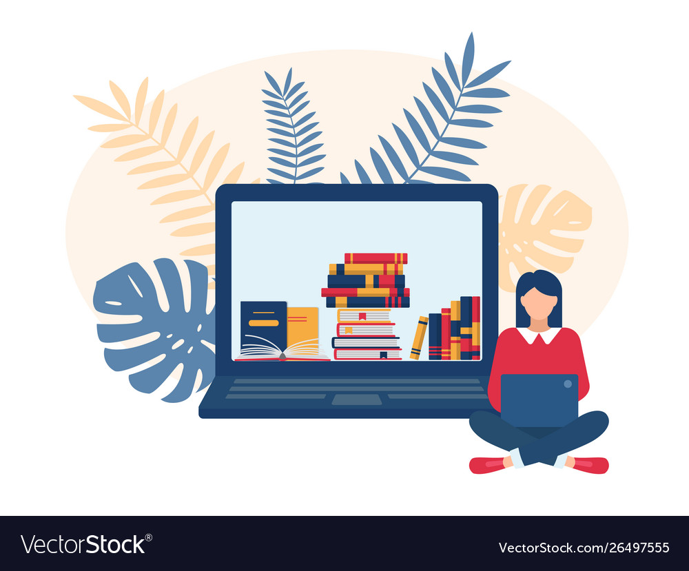 Online Education Royalty Free Vector Image Vectorstock