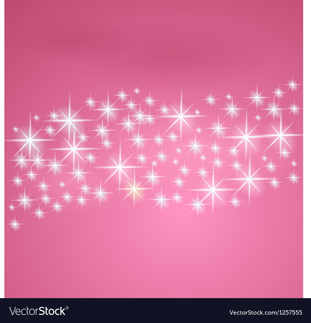 Pink fantasy background with stars vector image