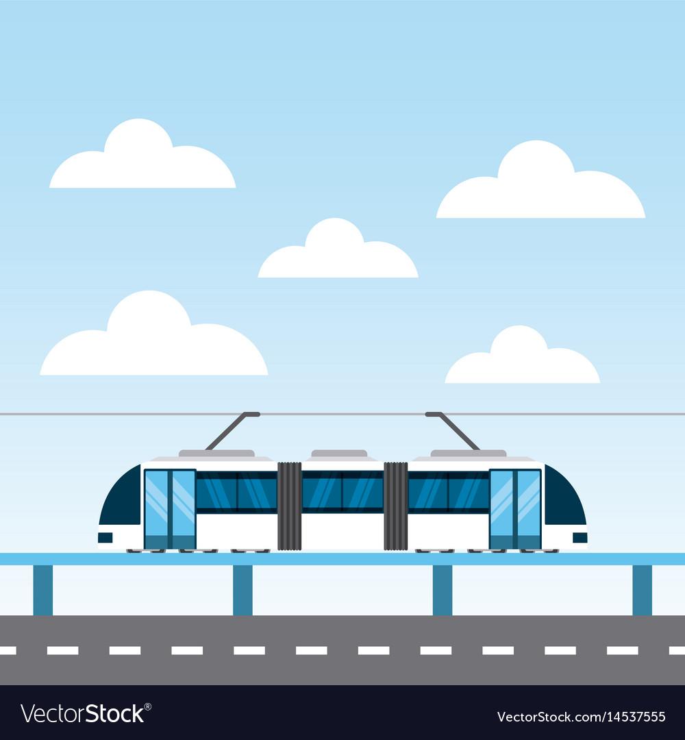 Tram service public icon