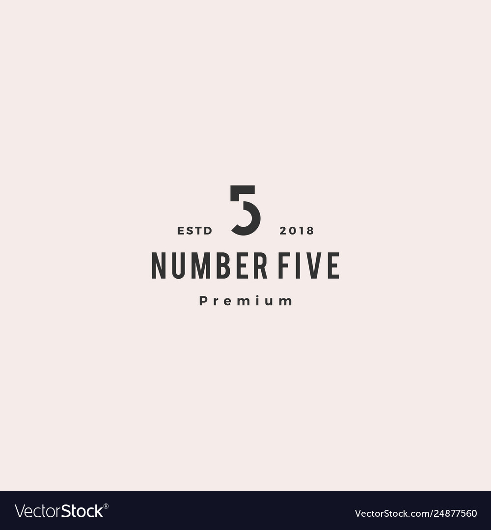 5 number five logo icon