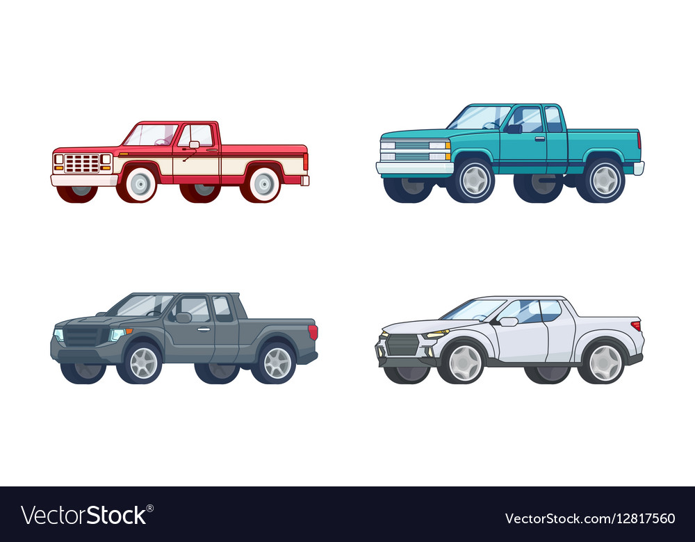 Colorful Pickup Truck Models Collection