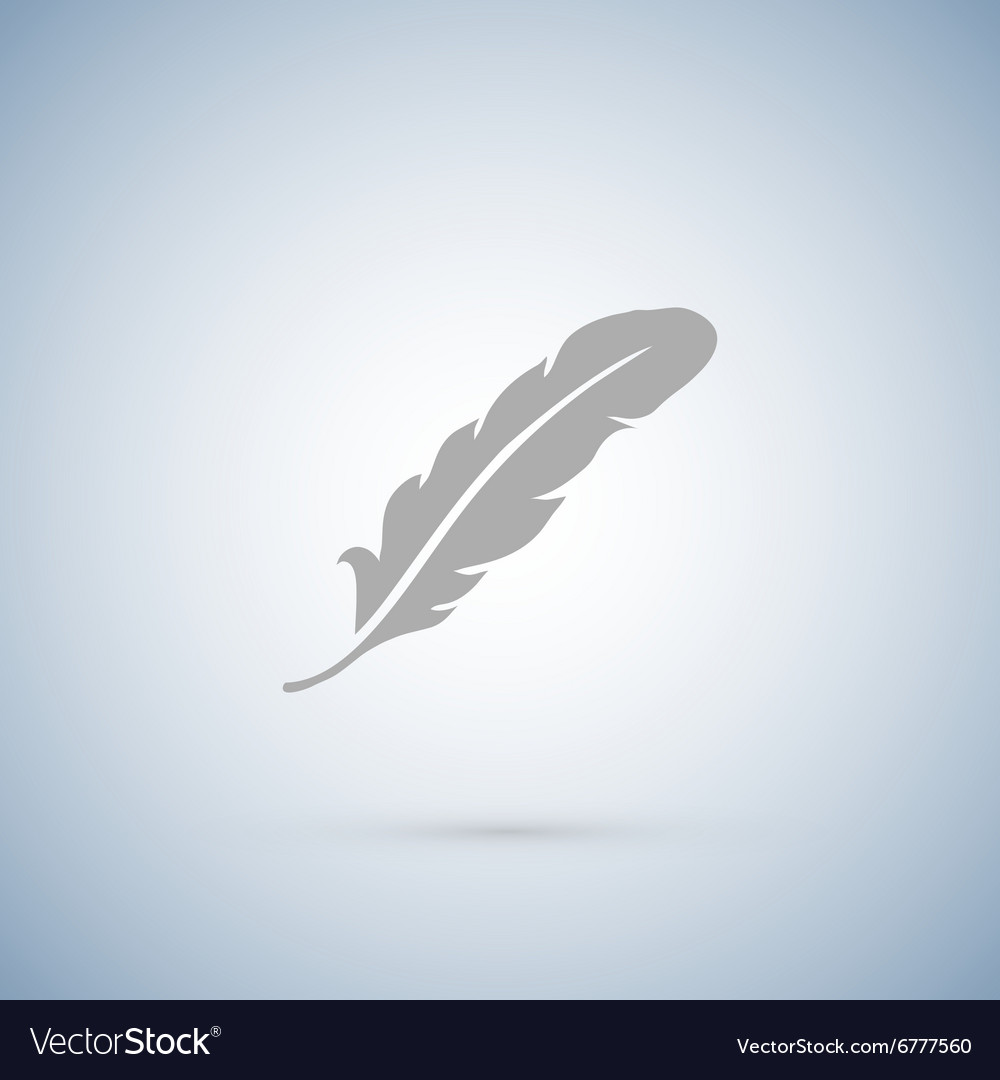 Feather icons isolated on white