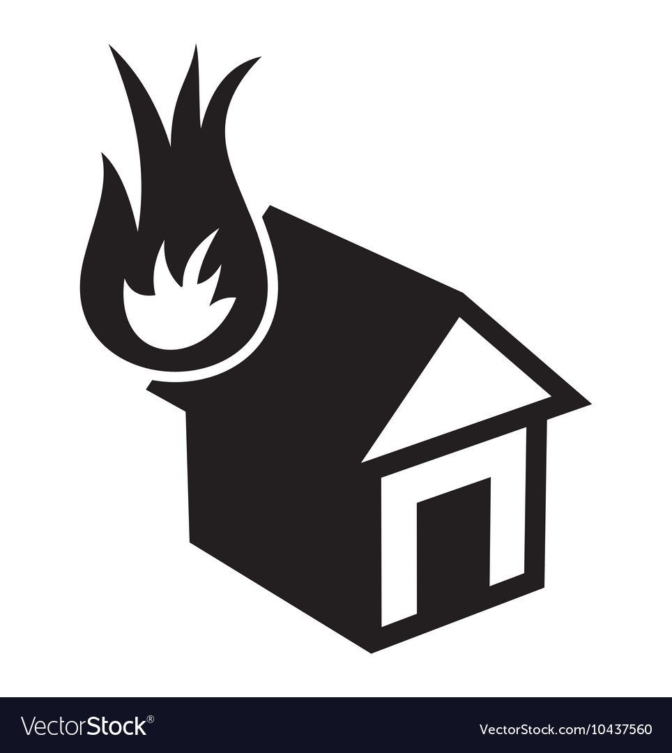Fire in the house2 resize vector image