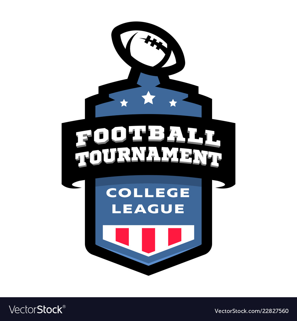 Football college tournament emblem logo