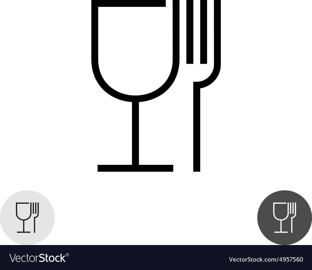 Fork And Glass Royalty Free Vector Image Vectorstock