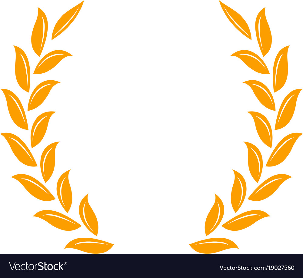gold laurel wreath a symbol of the winner wheat vector image rh vectorstock com wheat vector download wheat vector png