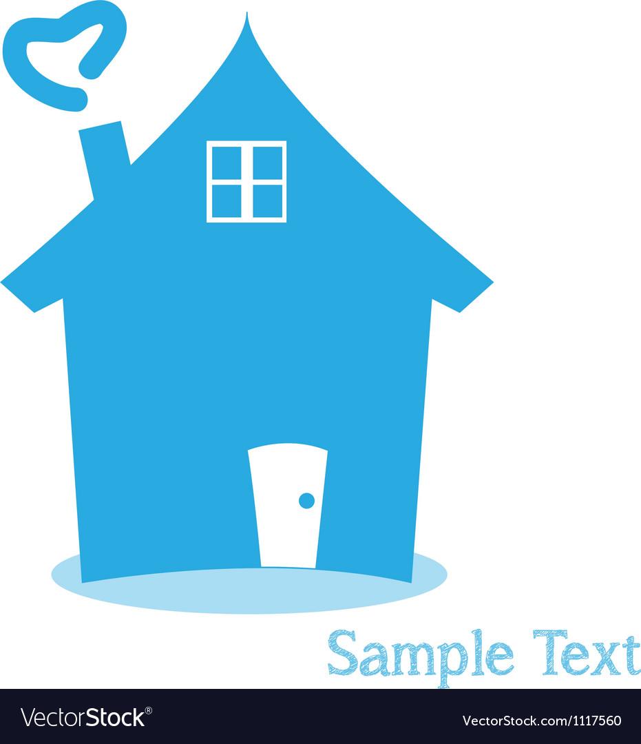 Home logo for concept money vector image