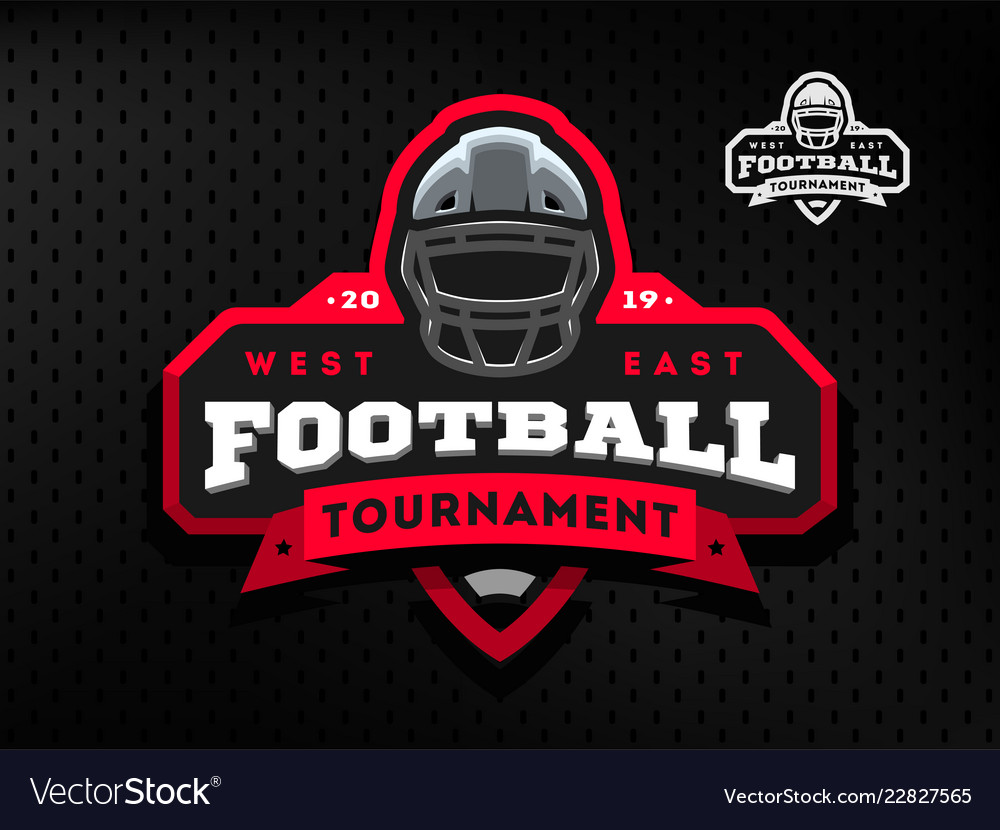 American football tournament emblem logo on a