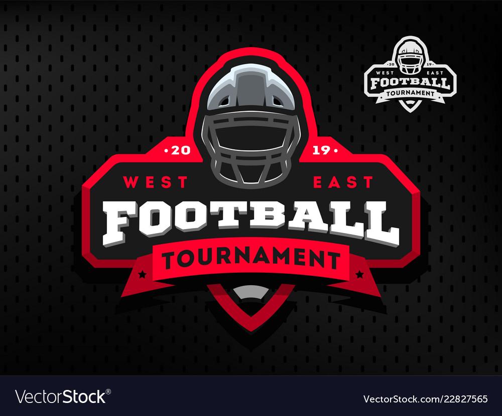 American football tournament emblem logo