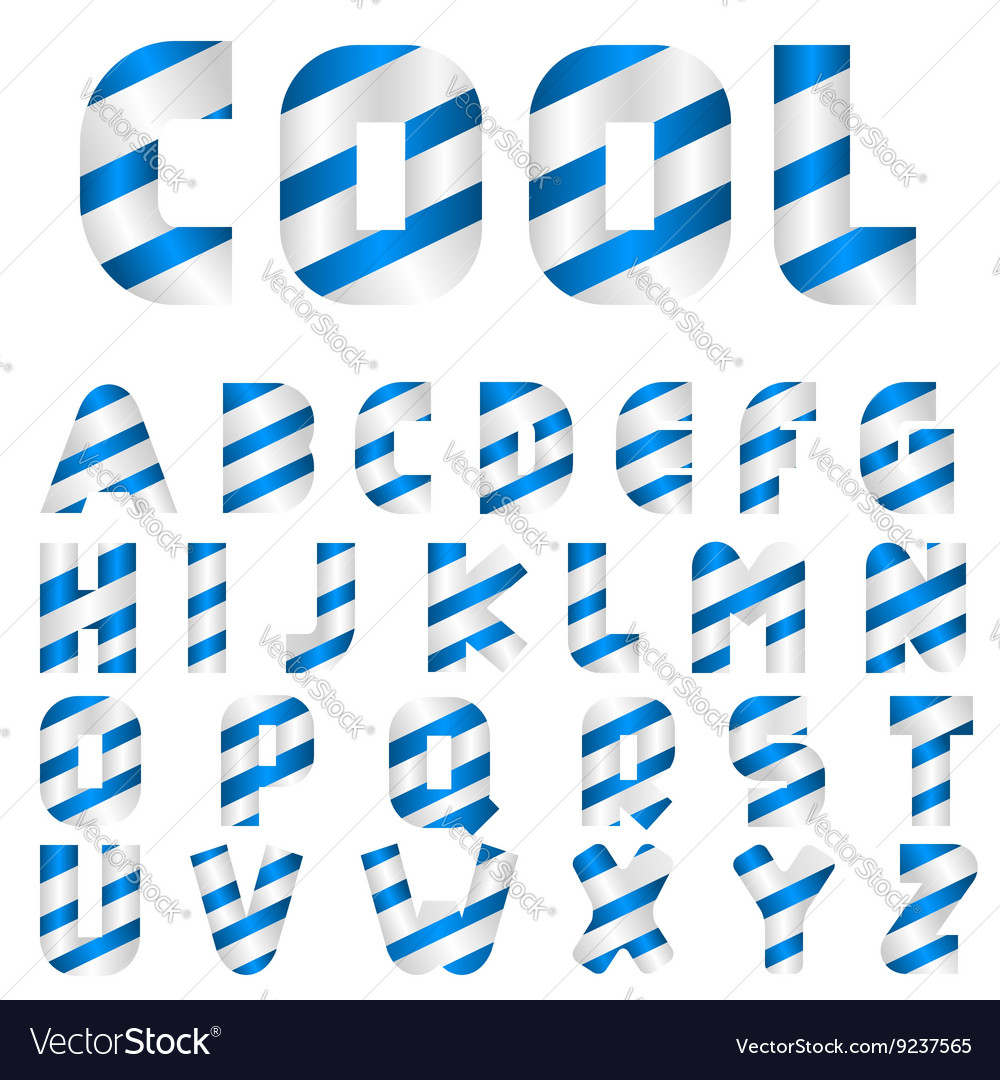 Cool alphabet letters vector image