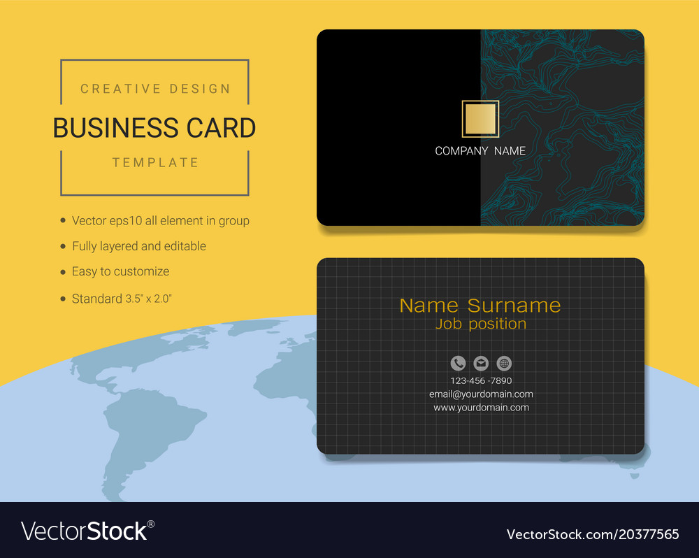 Creative business card or name card template Vector Image