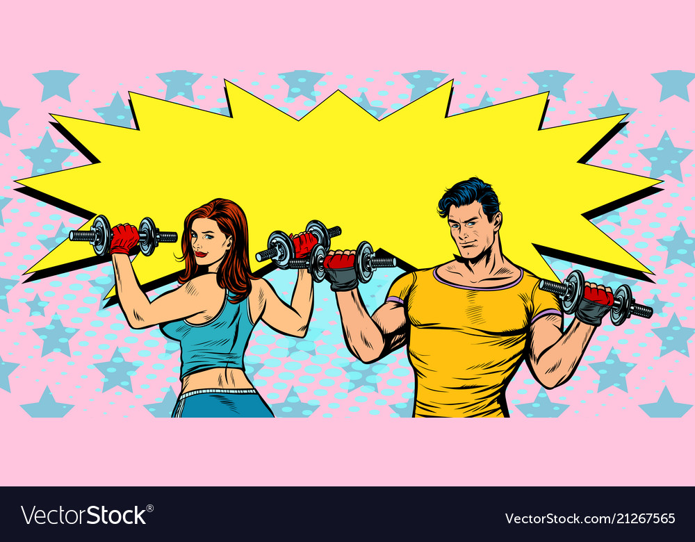 Healthy lifestyle fitness man and woman