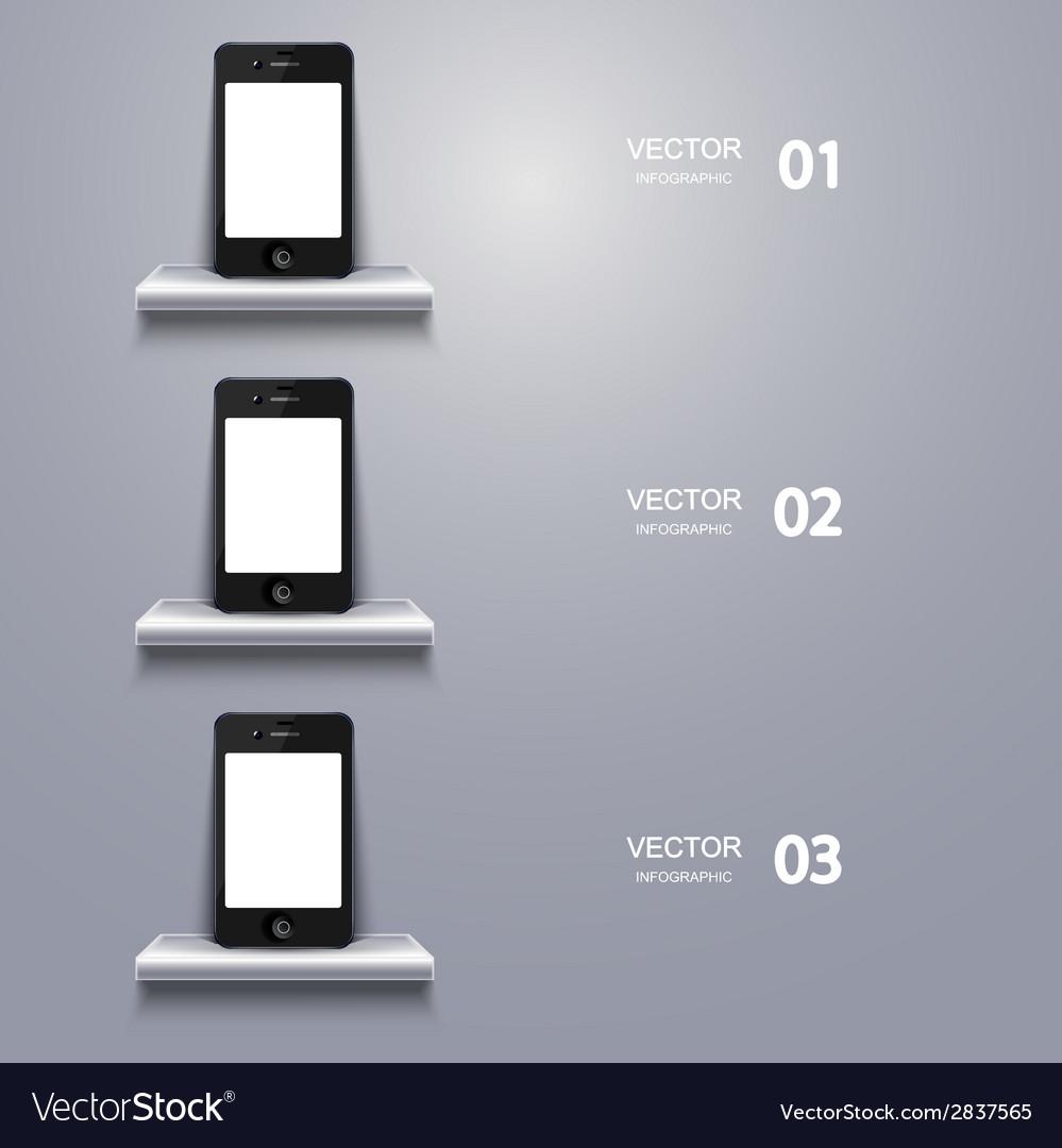 Modern smartphone infographic