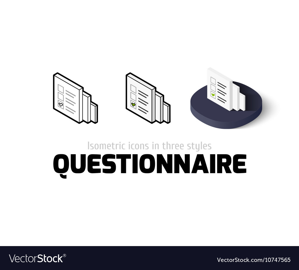 Questionnaire icon in different style