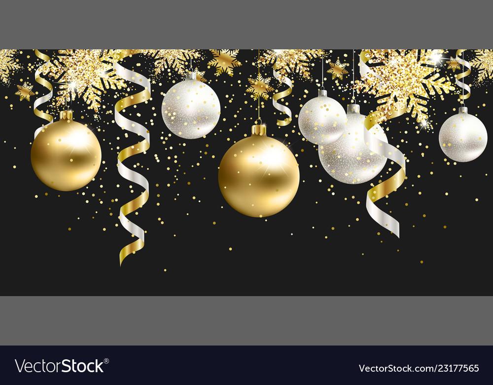 Seamless Pattern Black Christmas Decor