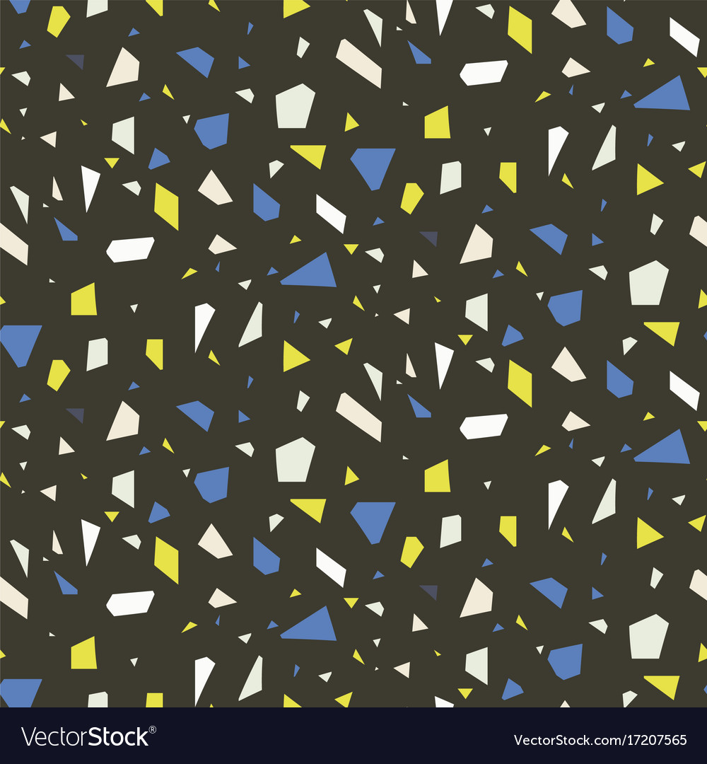 Terrazzo Flooring Dark Seamless Pattern