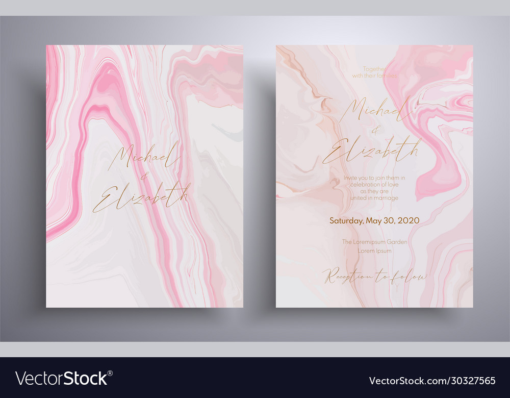 Wedding invitation pattern with waves and swirl