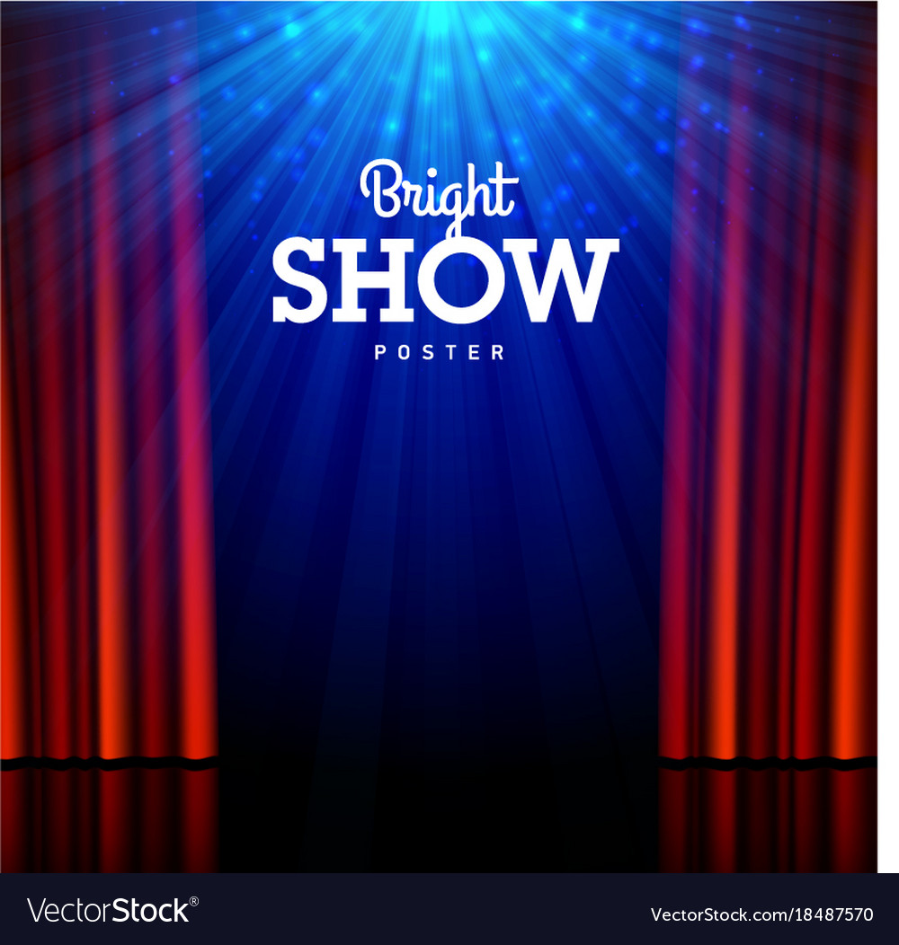 Bright show poster design template stage
