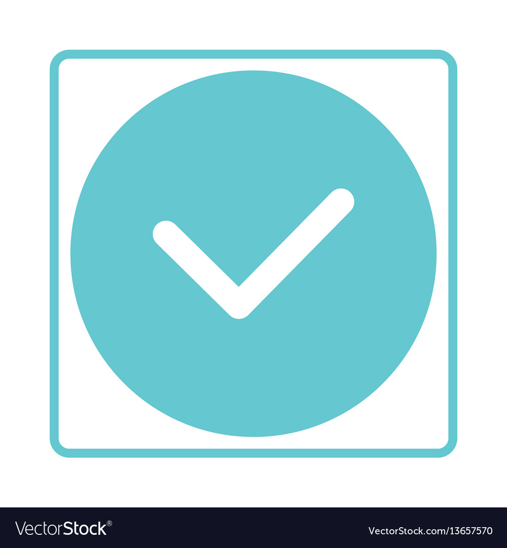 Check Mark Icon Tick Symbol In Blue Color Yes Vector Image